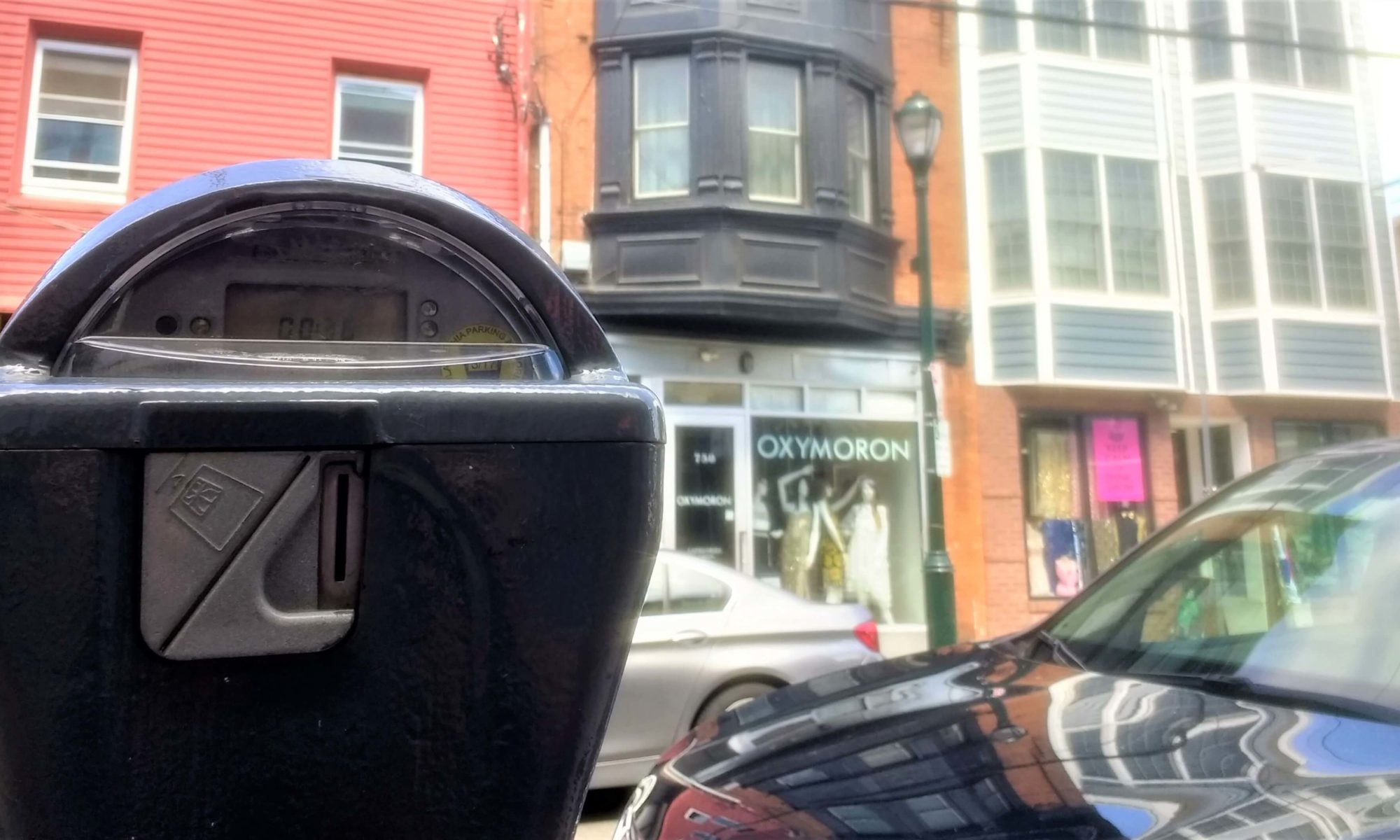 A parking meter in Queen Village, demonstrating parking rules in Philadelphia | Permit Philly